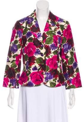 Tibi Printed Long Sleeve Blazer