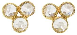 Couture Sethi Triple Rose Cut Diamond Stud Earrings - Yellow Gold
