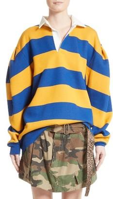 Women's Marc Jacobs Stripe Rubgy Sweatshirt $895 thestylecure.com