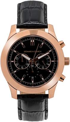 Church's LEONARD AND Leonard & Astor Chronograph Leather Strap Watch, 45mm