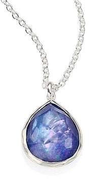 Ippolita Women's Rock Candy® Clear Quartz, Mother-Of-Pearl & Lapis Mini Teardrop Pendant Necklace