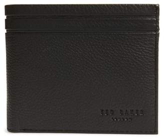 Ted Baker Striped Piping Leather Bifold Wallet