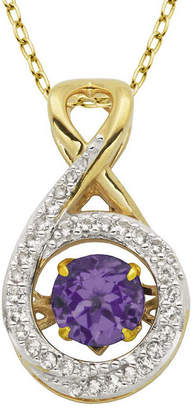 FINE JEWELRY Love in Motion Genuine Amethyst and Lab-Created White Sapphire Infinity Pendant Necklace