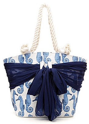 Mud Pie Sarong Along Seahorse Tote $38 thestylecure.com