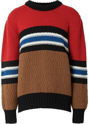 Burberry chunky knitted stripe jumper