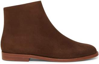 Mansur Gavriel Shearling Flat Ankle Boot - Chocolate