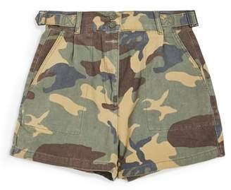 Topshop Camo Print Utility Shorts