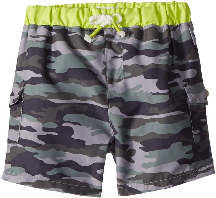 Camo Swim Trunks Boy's Swimwear