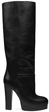 Gucci Women's Leather Platform Boots
