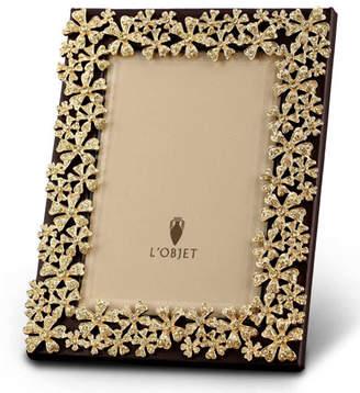 "L'OBJET Gold Garland 4"" x 6"" Picture Frame"