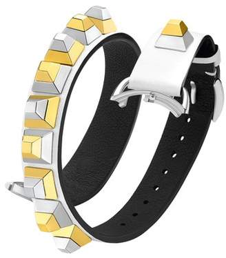 Fendi Selleria 17mm Embellished Leather Watch Strap