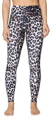 Betsey Johnson Capri Leopard-Print Extra High-Rise Ankle Legging