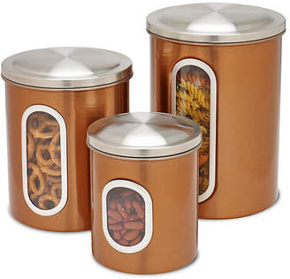 Honey-Can-Do 3-Pc. Copper Food Storage Canisters