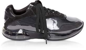 Alexander Wang Black Suede&Mesh Stadium Sneakers
