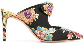 Alexandre Birman floral embroidered mules