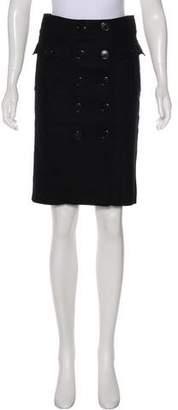 Burberry Knee-Length Wool Skirt