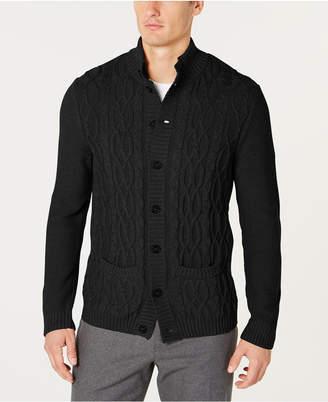 Tasso Elba Men's Cable Knit Cardigan