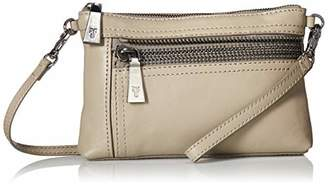 Frye Lena Zip Leather Crossbody Wristlet Bag