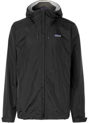 Patagonia Torrentshell Waterproof H2No Performance Standard Nylon-Ripstop Hooded Jacket - Men - Black