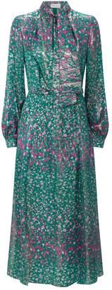 Raquel Diniz Floral Metallic Christy Dress