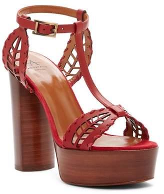 Aquatalia Isadora Leather Platform Sandal