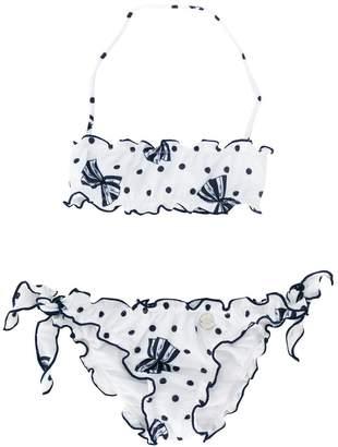 Miss Blumarine bow print bikini set