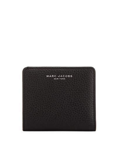 Marc JacobsMarc Jacobs Gotham Pebbled Leather Billfold, Black
