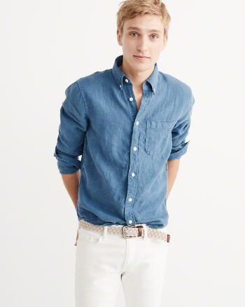 Garment Dye Linen Shirt 2