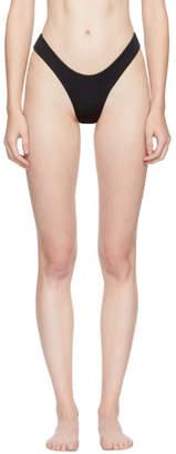 Myraswim Black Ivana Thong Bikini Bottoms