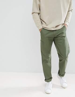 Farah Pine Cargo Twill Pants in Green
