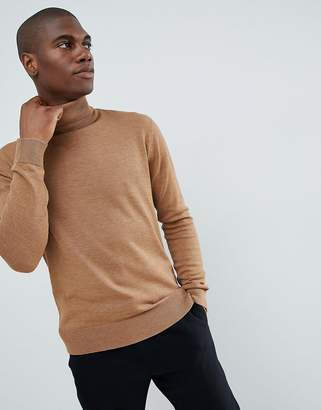 French Connection Plain 100% Cotton Roll Neck Sweater