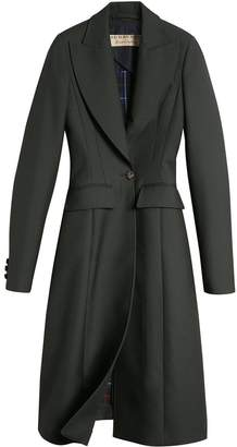 Burberry Crested Button Wool Tailored Coat