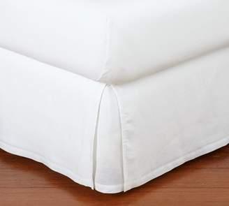 Pottery Barn Belgian Flax Linen Bed Skirt - White