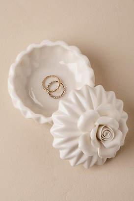 Anthropologie Porcelain Bloom Ring Box