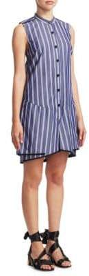 Proenza Schouler Stripe Cotton Flared Dress