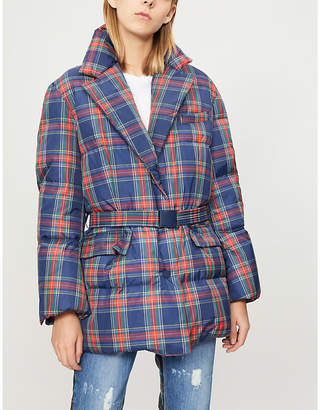 Sjyp Checked padded down jacket