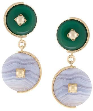 Crystalline Lace Agate earrings