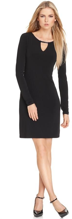 MICHAEL Michael Kors Dress, Long Sleeve Logo Bar