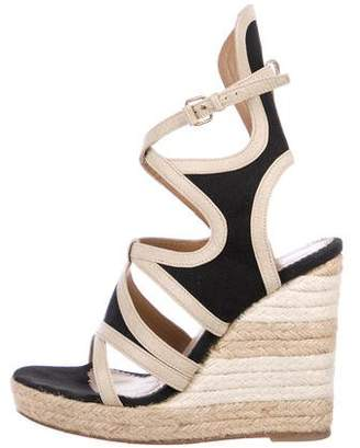 Balenciaga Canvas Buckle Wedges
