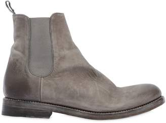 Waxed Leather Chelsea Boots