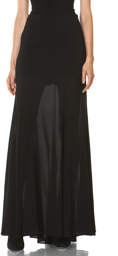 Theyskens' Theory Sonne Forma Maxi Skirt in Black