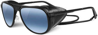 Vuarnet Glacier Pilot Sport Polarized Sunglasses, Black/Blue
