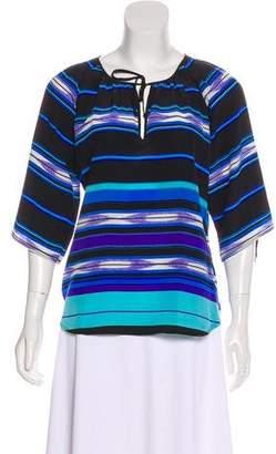 Yumi Kim Silk Short Sleeve Blouse