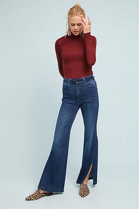 Mother The Hustler Sidewinder Ultra High-Rise Wide-Leg Jeans