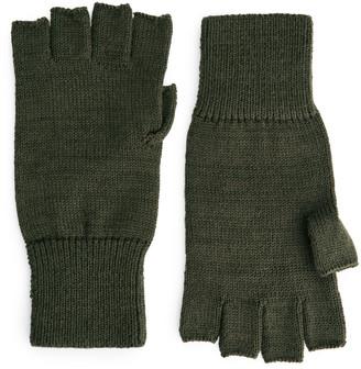 Arket Raw wool Fingerless Gloves