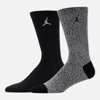Nike Unisex Jordan Elephant 2-Pack Crew Socks