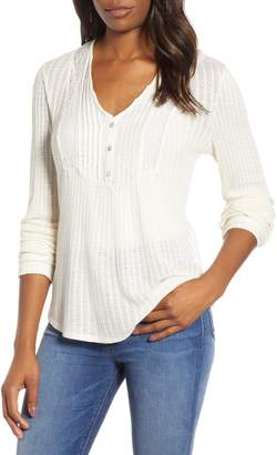 Lucky Brand Lace Trim Top