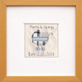 Milly and pip Personalised New Baby Twins Gift