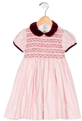 Papo d'Anjo Girls' Short Sleeve Dress
