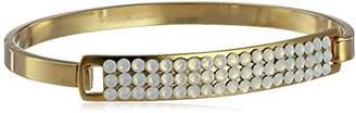 Chamak by Priya Kakkar Gold with Chic Swarovski Element Crystals Identification Bracelet